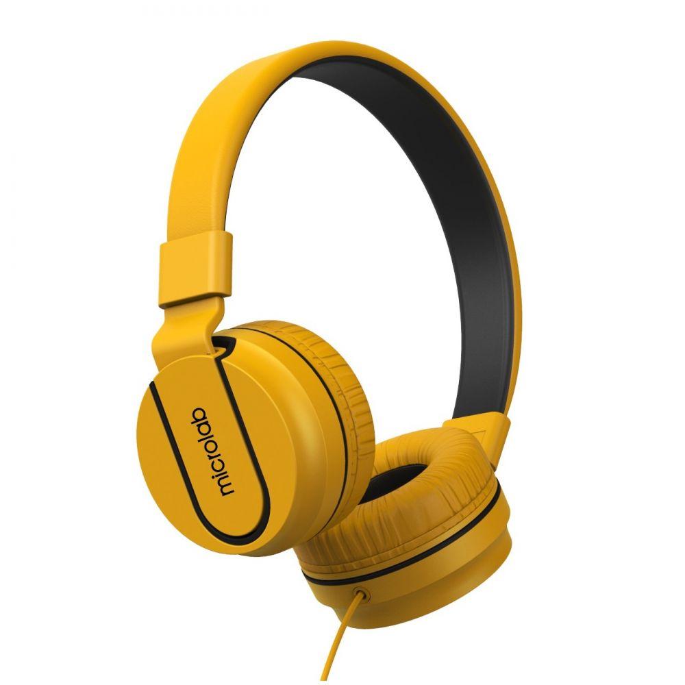 Наушники Microlab K763D yellow с микрофоном