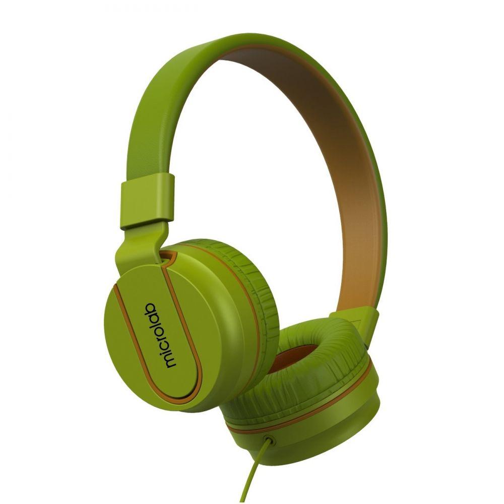 Наушники Microlab K763D green с микрофоном