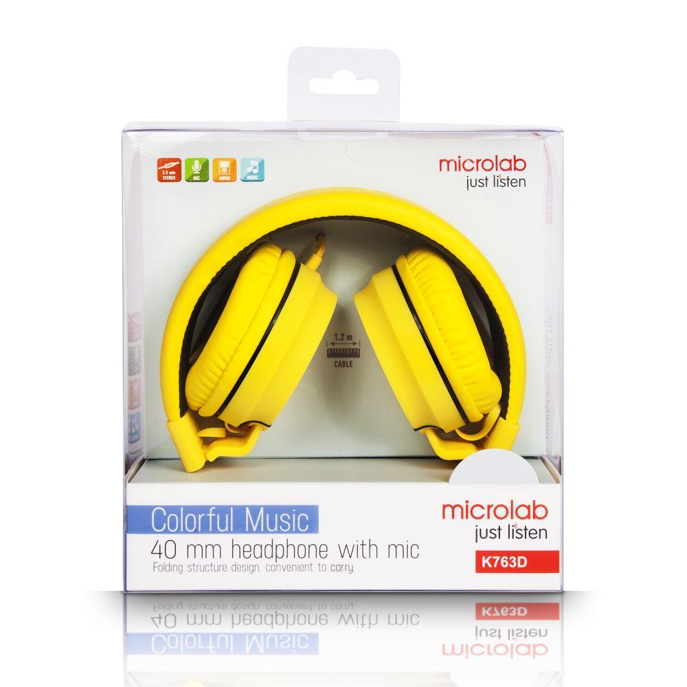 popup_photo_Наушники Microlab K763D yellow с микрофоном_0